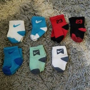 Bundle lot of Nike and Jordan socks